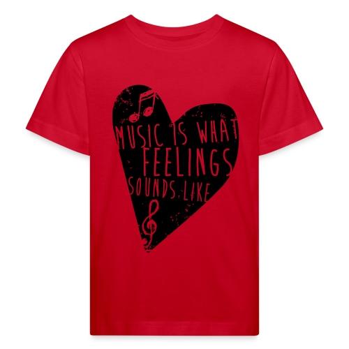 Music is feelings - Organic børne shirt