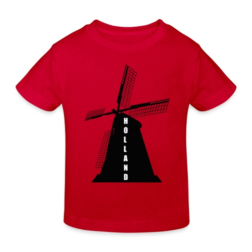 windmuehle Holland - Kinder Bio-T-Shirt