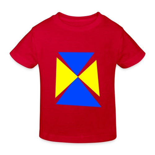 Blau - Gelb - Kinder Bio-T-Shirt