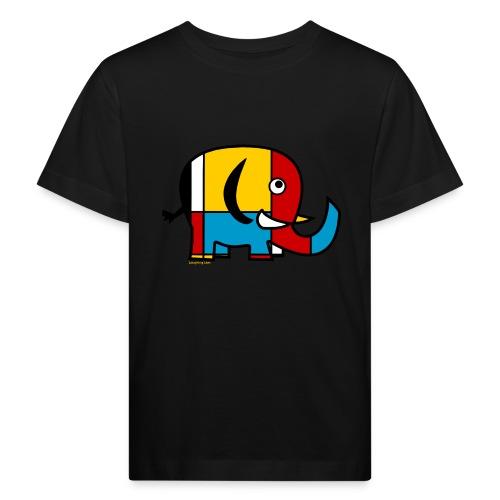 Mondrian Elephant - Kids' Organic T-Shirt