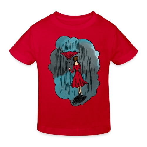 Upside Down Umbrella - Kids' Organic T-Shirt