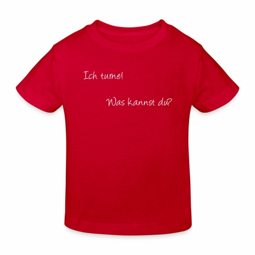 ich turne! Was kannst du? - Kinder Bio-T-Shirt