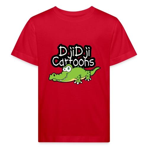 Djidji cartoon design Krokodil - Kinder Bio-T-Shirt