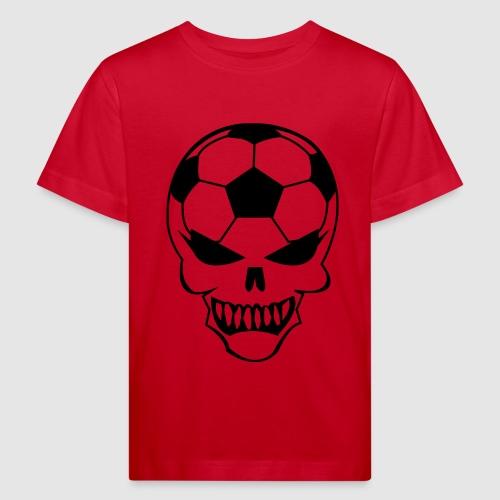 Fußball-Totenkopf - Kinder Bio-T-Shirt