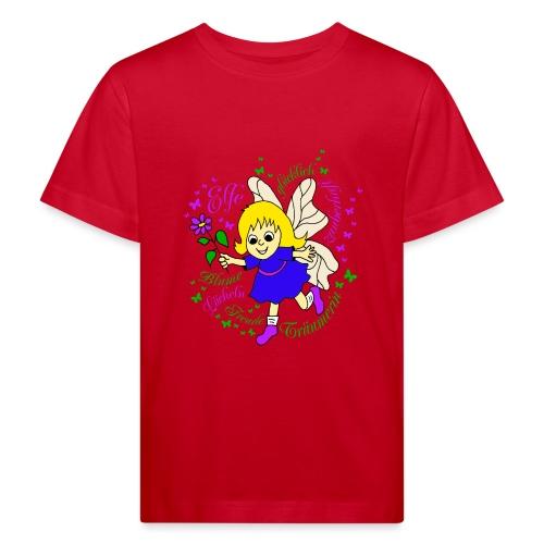 Elfe Traeume in Lila - Kinder Bio-T-Shirt