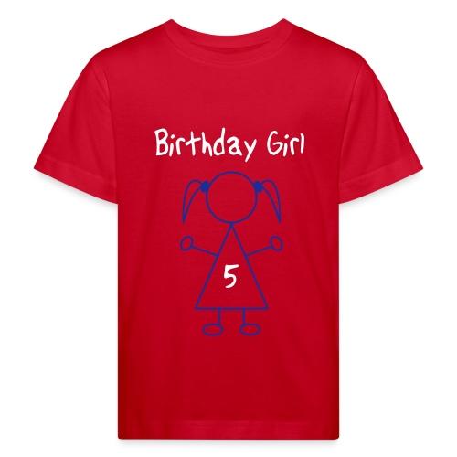 birthday girl 5 year - Kinderen Bio-T-shirt