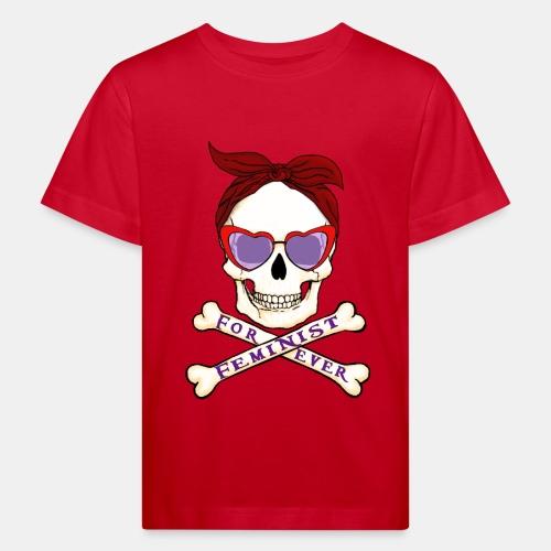 Calavera Feminista - Camiseta ecológica niño