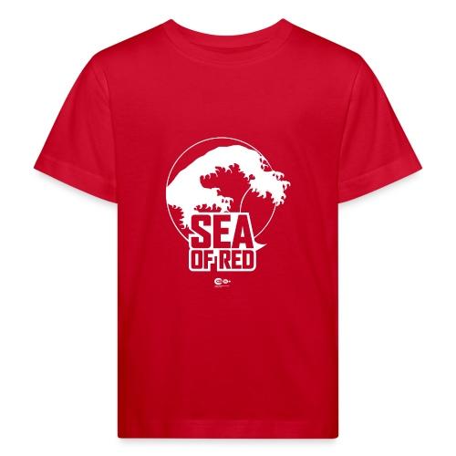 Sea of red logo - white - Kids' Organic T-Shirt