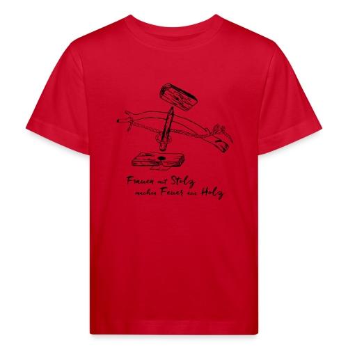 1er BowDrill - Feuerbohrset_FmS - Kinder Bio-T-Shirt