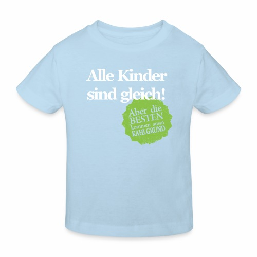 Kinder sind gleich, außer Kahlgründer - WEIß/GRÜN - Kinder Bio-T-Shirt