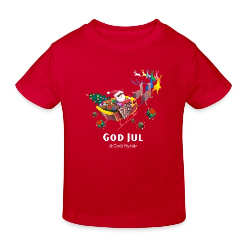 god jul og godt nyttår - Økologisk T-skjorte for barn
