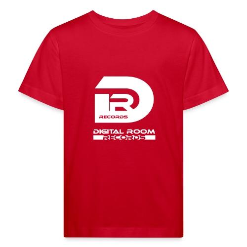 Digital Room Records Official Logo white - Kids' Organic T-Shirt