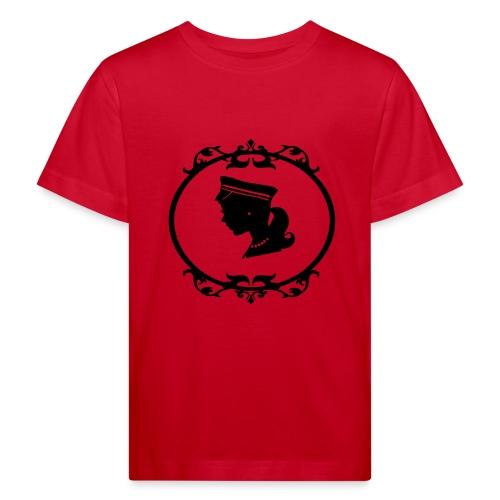 Mädel oval 1 farbig - Kinder Bio-T-Shirt