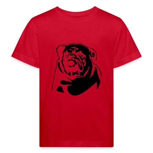 English Bulldog - negative - Lasten luonnonmukainen t-paita