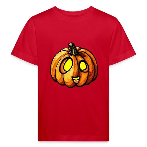 Pumpkin Halloween watercolor scribblesirii - Lasten luonnonmukainen t-paita