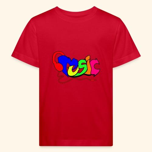 Muziek geschreven als graffiti 001 - Kinderen Bio-T-shirt