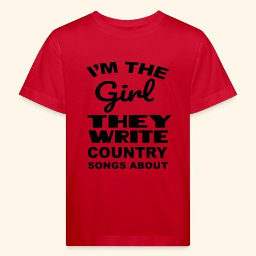 Meisje waar country muziek over wordt geschreven - Kinderen Bio-T-shirt