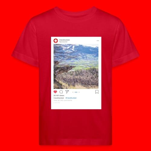 travelsuisse - Aussicht Richtung Wangs - Kinder Bio-T-Shirt