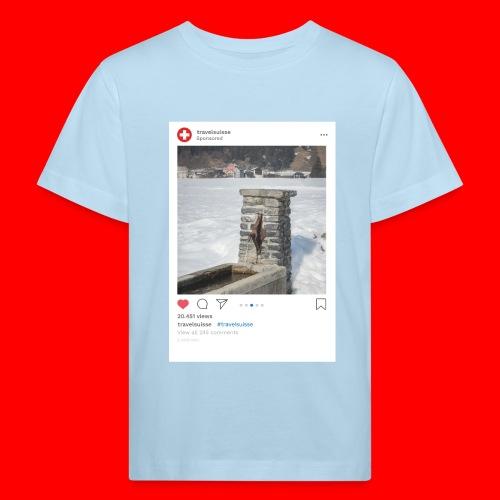 travelsuisse - Brunnen Trin - Kinder Bio-T-Shirt