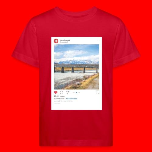 travelsuisse - Bruecke Vaduz - Kinder Bio-T-Shirt