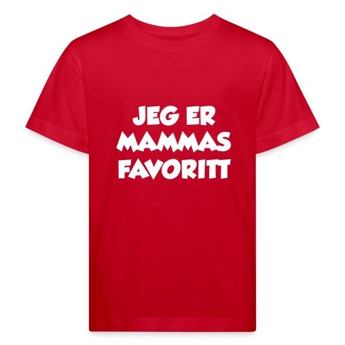 «Jeg er mammas favoritt» (fra Det norske plagg) - Økologisk T-skjorte for barn