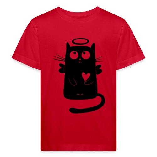 Katzengel - Kinder Bio-T-Shirt