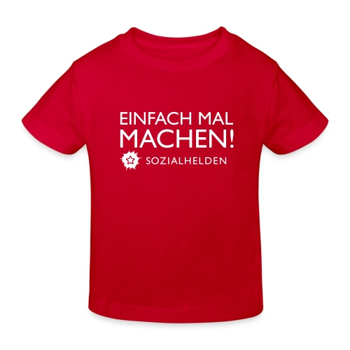 einfachmalmachen2farbig kind - Kinder Bio-T-Shirt