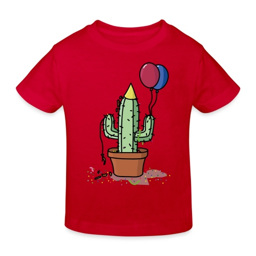Flowercontest cactus party - Kinderen Bio-T-shirt