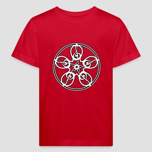 Treble Clef Mandala (white/black outline) - Kids' Organic T-Shirt