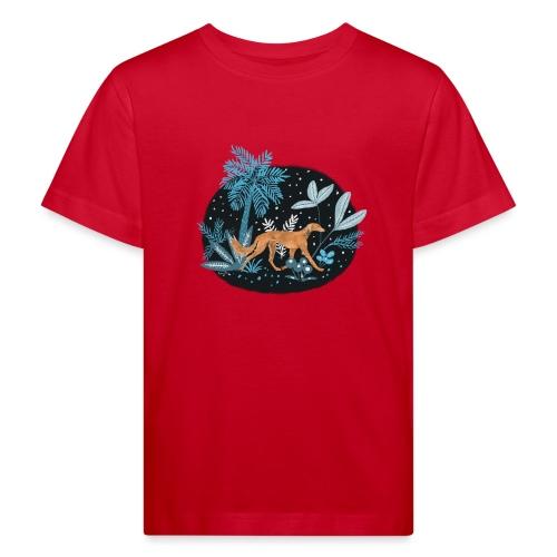 Saluki im Tropenwald - Kinder Bio-T-Shirt