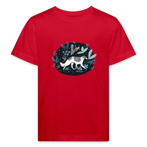 Barsoi im Mitternachtswald - Kinder Bio-T-Shirt
