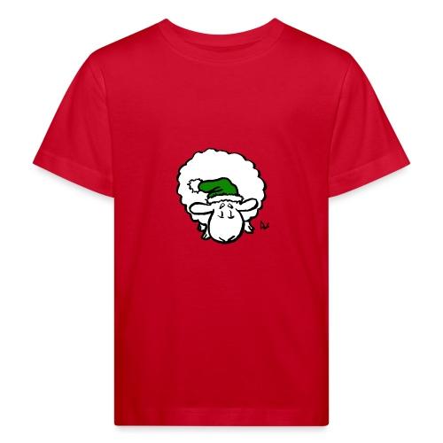 Weihnachtsschaf (grün) - Kinder Bio-T-Shirt