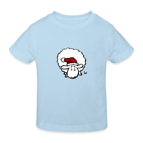 Weihnachtsschaf (rot) - Kinder Bio-T-Shirt