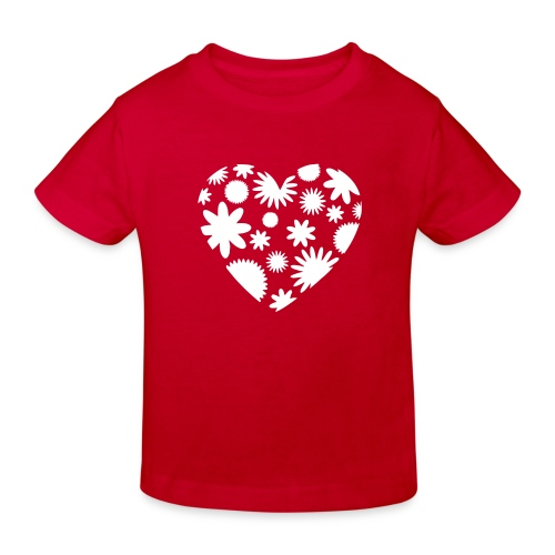 Blütenherz - Kinder Bio-T-Shirt