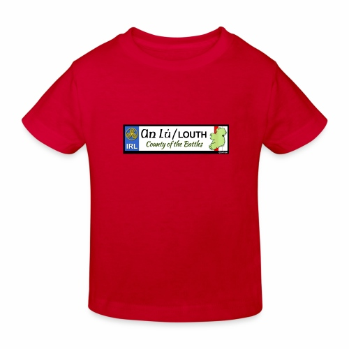 CO. LOUTH, IRELAND: licence plate tag style decal - Kids' Organic T-Shirt