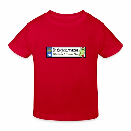 TYRONE, NORTHERN IRELAND licence plate tags decal - Kids' Organic T-Shirt