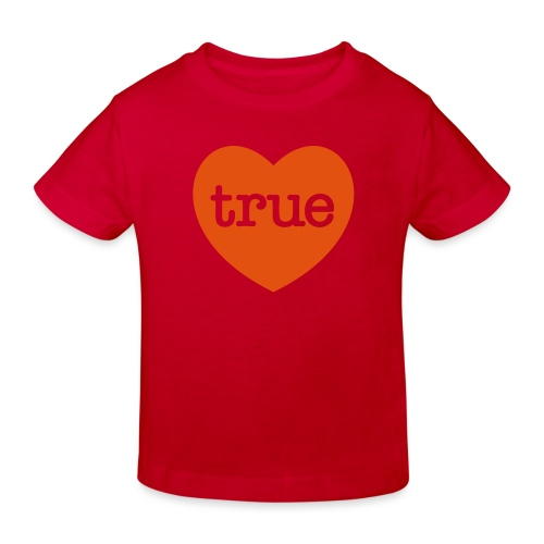 TRUE LOVE Heart - Kids' Organic T-Shirt