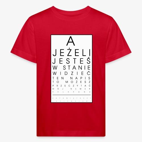 Badanie wzroku - Ekologiczna koszulka dziecięca