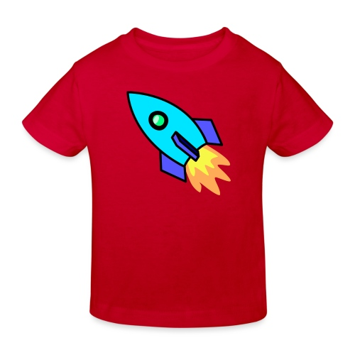 Blue rocket - Kids' Organic T-Shirt