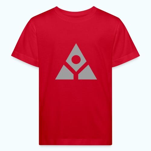 Sacred geometry gray pyramid circle in balance - Kids' Organic T-Shirt