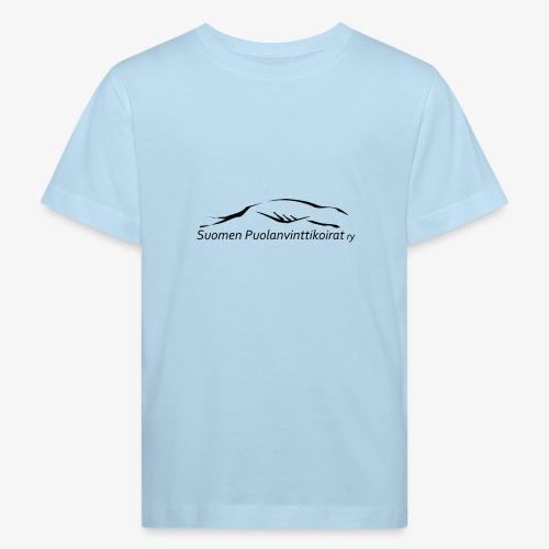 SUP logo musta - Lasten luonnonmukainen t-paita