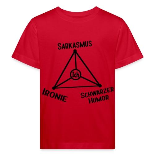 Ironie Sarkasmus Schwarzer Humor Nerd Dreieck - Kinder Bio-T-Shirt