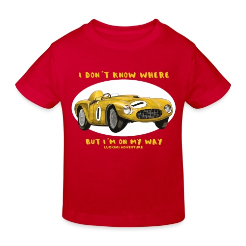 Happy Car Yellow - Ekologisk T-shirt barn