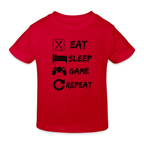 Eat_Sleep_Game_Repeat - Camiseta ecológica niño