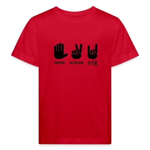 ciseaux de roche papier - T-shirt bio Enfant