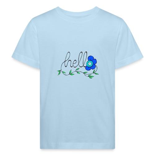 Hello Blume. - Kinder Bio-T-Shirt