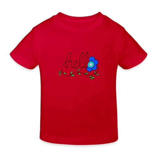 Hello Blume. - Kinder Bio-T-Shirt