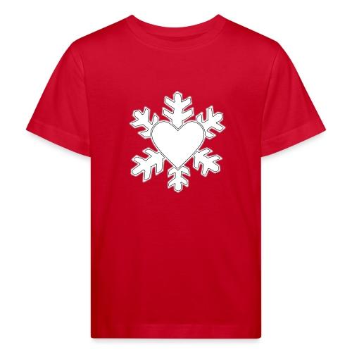 Flocon coeur 3D - T-shirt bio Enfant