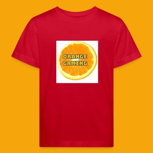 Orange_Logo_White - Kids' Organic T-Shirt