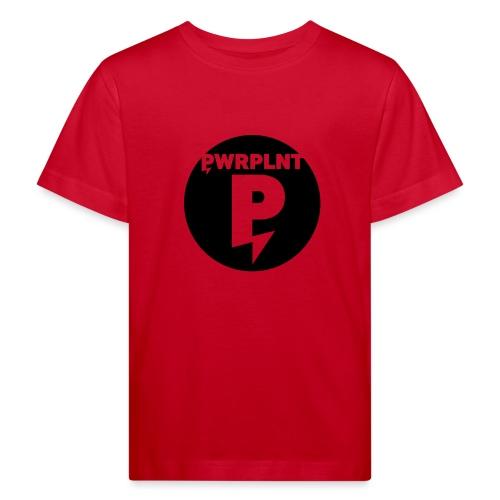 PWRPLNT black Logo Circle - Kids' Organic T-Shirt